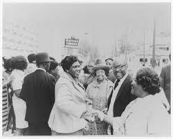 Barbara Jordan and her mom at Good Hope Missionary Baptist Church